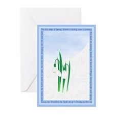 Imbolc Snowdrops Greeting Cards