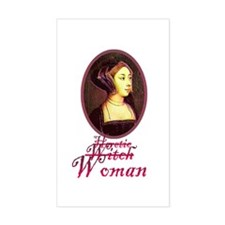 Anne Boleyn - Heretic/Witch/W Sticker (Rectangular