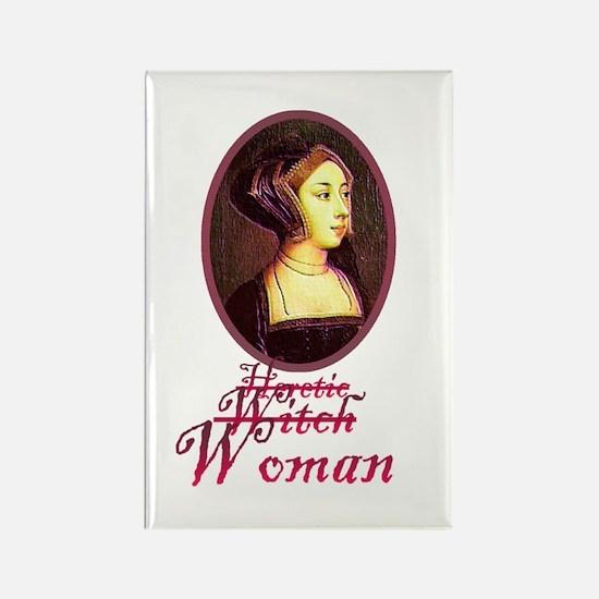 Anne Boleyn - Heretic/Witch/W Rectangle Magnet