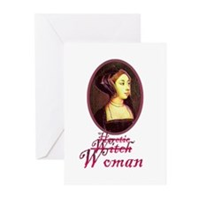 Anne Boleyn - Heretic/Witch/W Greeting Cards (Pack