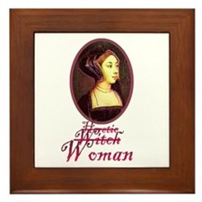 Anne Boleyn - Heretic/Witch/W Framed Tile