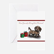 Dachshund Christmas Cards (Pk of 10) Greeting Card