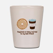 Coffee and Donut Married BF Shot Glass