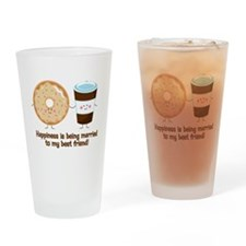 Coffee and Donut Married BF Drinking Glass