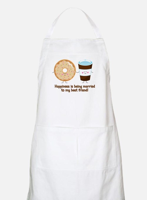 Coffee and Donut Married BF Apron