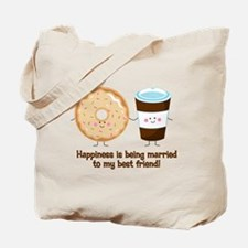 Coffee and Donut Married BF Tote Bag