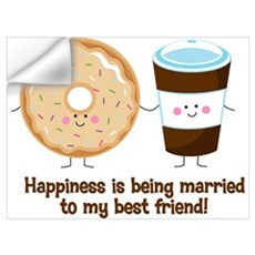 Coffee and Donut Married BF Wall Art Wall Decal