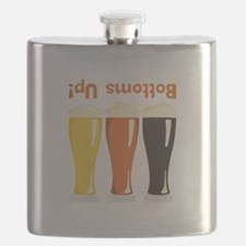 Bottoms Up! Beer Flask