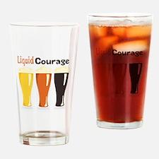 Liquid Courage Drinking Glass