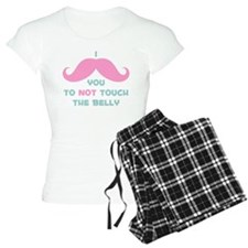Mustache Don't Touch Belly Pajamas