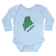Chevron Maine Long Sleeve Infant Bodysuit