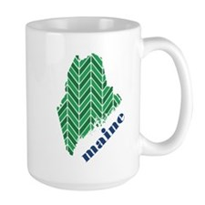 Chevron Maine Mug