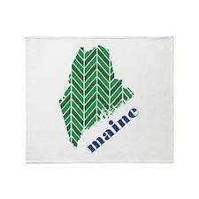 Chevron Maine Throw Blanket