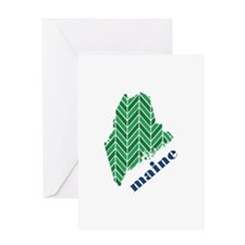 Chevron Maine Greeting Card