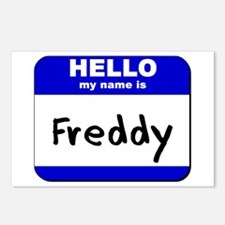 hello my name is freddy  Postcards (Package of 8)