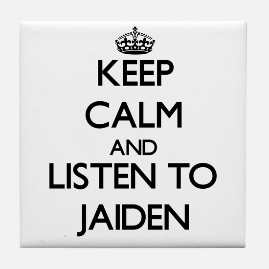 Keep Calm and listen to Jaiden Tile Coaster