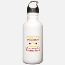 Personalize Transplant Donor Thank You Water Bottle