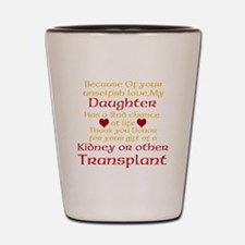 Personalize Transplant Donor Thank You Shot Glass