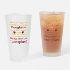 Personalize Transplant Donor Thank You Drinking Gl