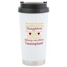 Personalize Transplant Donor Thank You Travel Mug