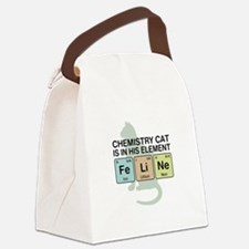 Chemistry Cat Canvas Lunch Bag