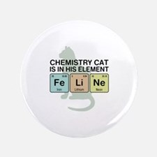 """Chemistry Cat 3.5"""" Button"""