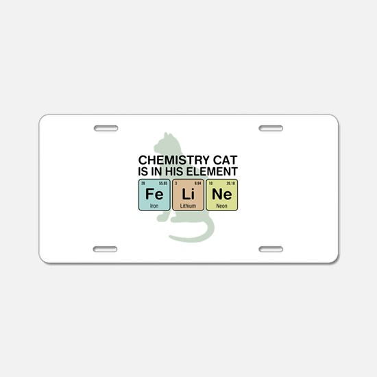 Chemistry Cat Aluminum License Plate