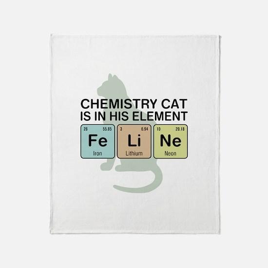 Chemistry Cat Throw Blanket