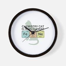 Chemistry Cat Wall Clock