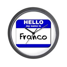 hello my name is franco  Wall Clock