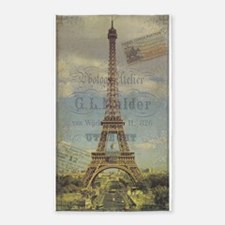 Eiffel Tower, French, Vintage Poster 3'x5' Area Ru
