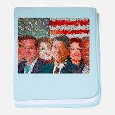 Conservative Americans baby blanket