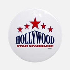 Hollywood Star Sparkled Ornament (Round)