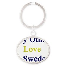 My Other Love Is Sweden  Oval Keychain