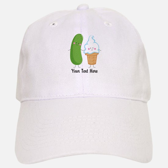 Personalized Pickle and Ice Cream Baseball Baseball Cap