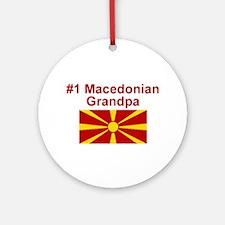 #1 Macedonian Grandpa Ornament (Round)