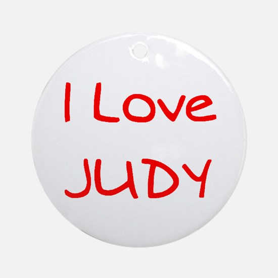 Love Judy Ornament (Round)