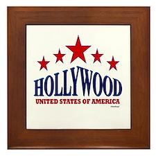 Hollywood U.S.A. Framed Tile