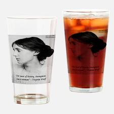 Virginia Woolf On Writing Drinking Glass