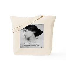 Virginia Woolf On Writing Tote Bag