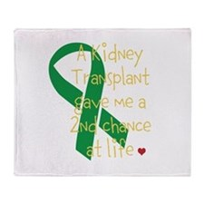 2nd Chance At Life (Kidney) Throw Blanket