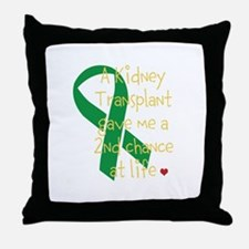 2nd Chance At Life (Kidney) Throw Pillow
