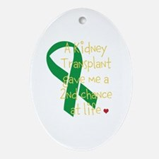 2nd Chance At Life (Kidney) Ornament (Oval)