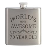 70th birthday Flask Bottles