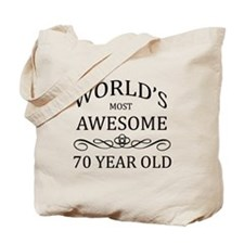 World's Most Awesome 70 Year Old Tote Bag