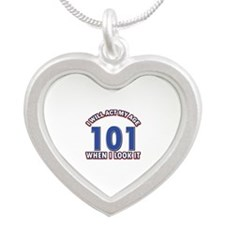 Will act 101 when i feel it Silver Heart Necklace