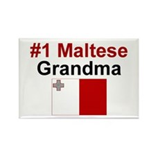 Malta #1 Grandma Rectangle Magnet