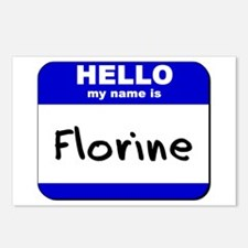 hello my name is florine  Postcards (Package of 8)