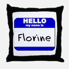 hello my name is florine  Throw Pillow