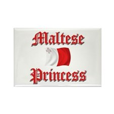 Maltese Princess 2 Rectangle Magnet